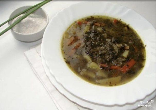Щавелевый суп постный