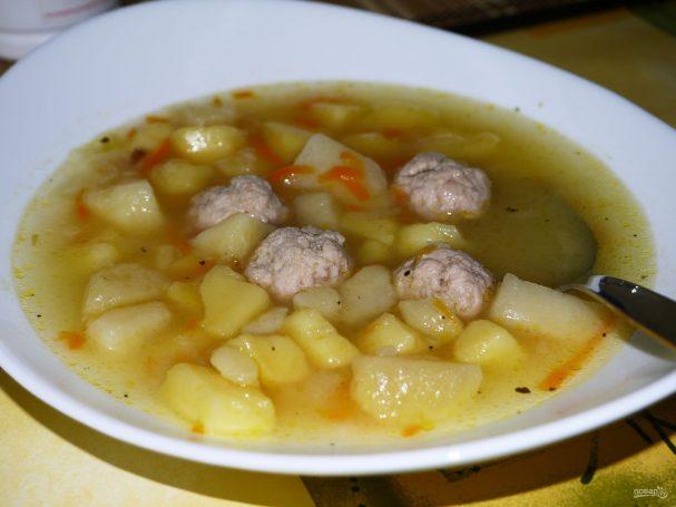 Суп из окары и мяса