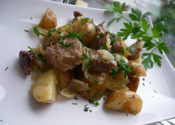 Баранина с картошкой в рукаве