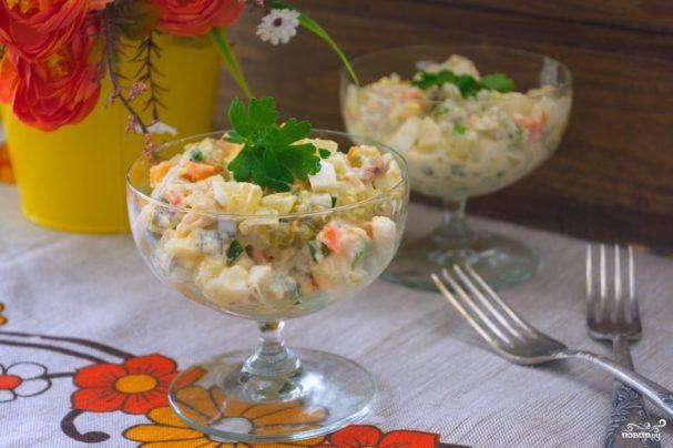 "Салат ""Оливье"" классический рецепт"