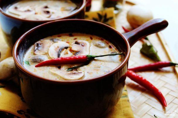 Суп из свежих шампиньонов