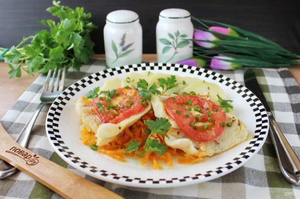 Судак с помидорами в духовке
