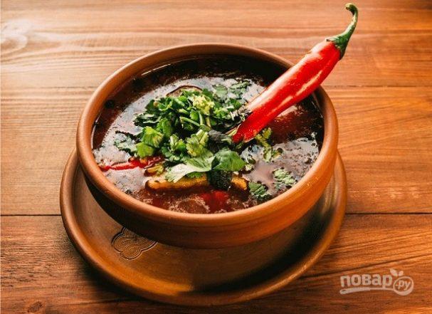 """""""Харчо"""" с томатной пастой"""