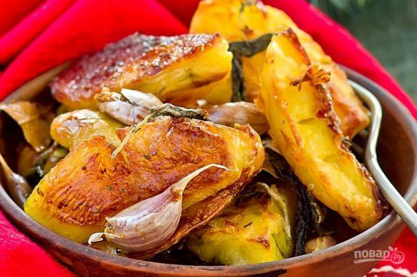 Жареная картошка в духовке