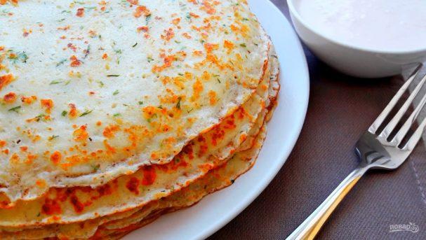 Рецепт сырных блинов