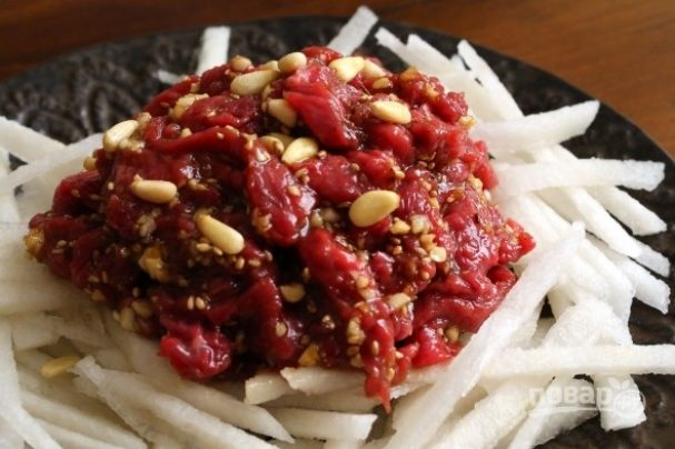 Тартар из говядины по-корейски