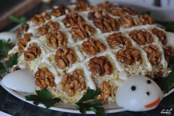 салат из орехов грецких