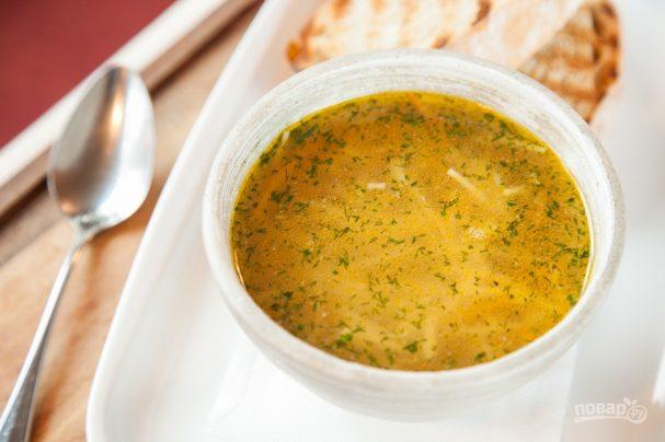 Суп из зеленой гречки простой