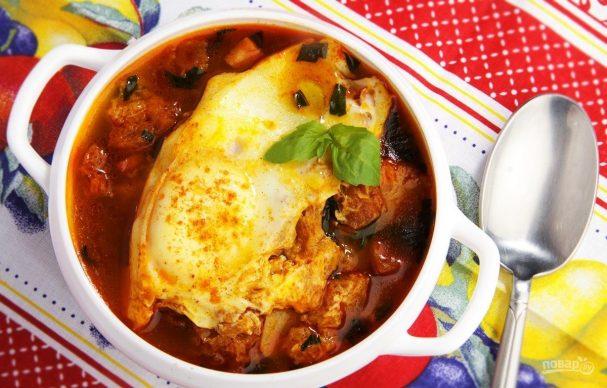 Испанский чесночный суп с перцем