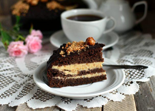 Шоколадный торт  «Ореховый прутик»