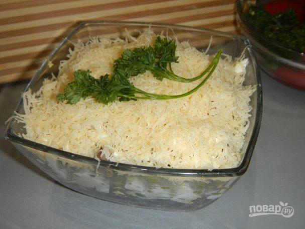 Печеночный салат слоями