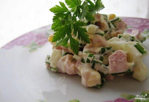 Салат из свиного сердца