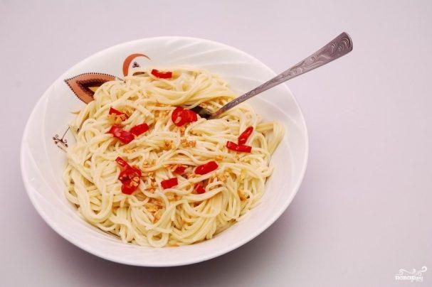 Спагетти алио олио