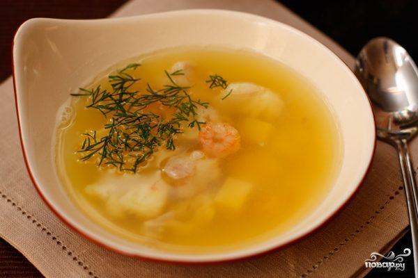 Рыбный суп из филе трески