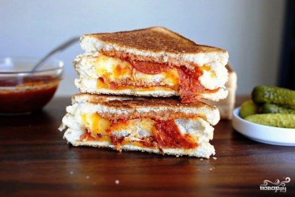 Горячие пицца-бутерброды