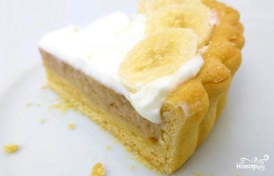 Быстрый пирог с бананами