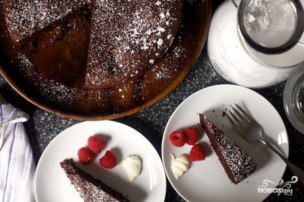 Вкусный французский шоколадный торт