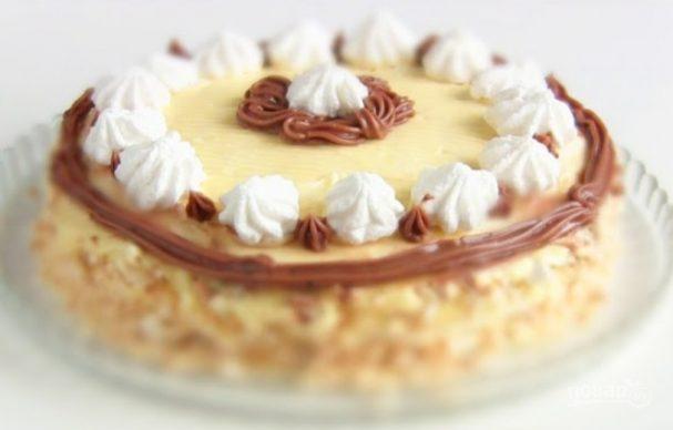 Торт-безе с масляным кремом