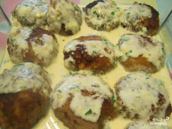 котлеты в соусе из плавленного сыра рецепт с фото