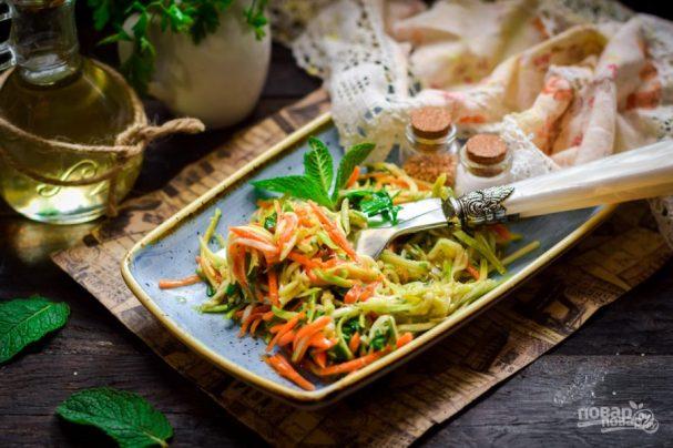 Закуска из кабачка и моркови