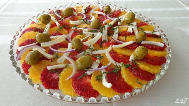 Свежий салат на Новый год