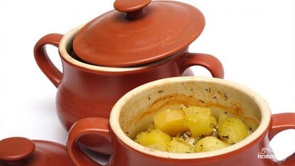 Картофель в горшочке в духовке