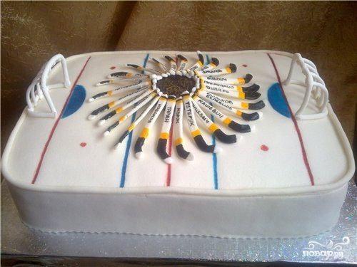 """Торт """"Хоккейное поле"""""""