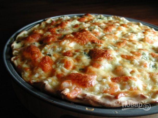 Итальянская пицца с морепродуктами