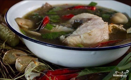 Тайский рыбный суп