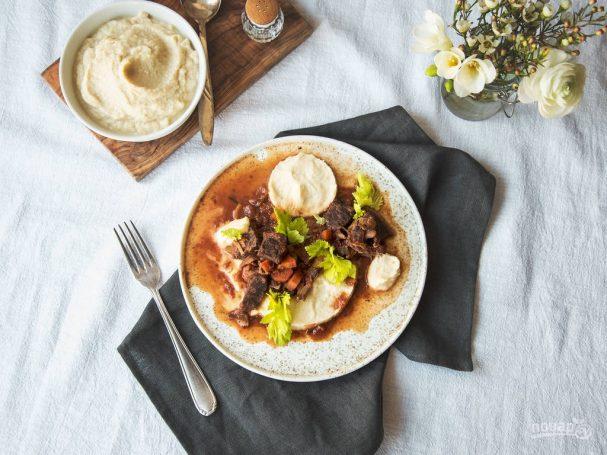 Рагу из говядины с сельдереем