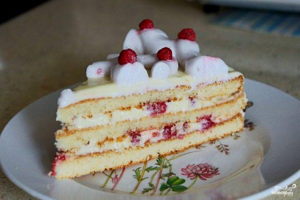 Быстрый торт из коржей