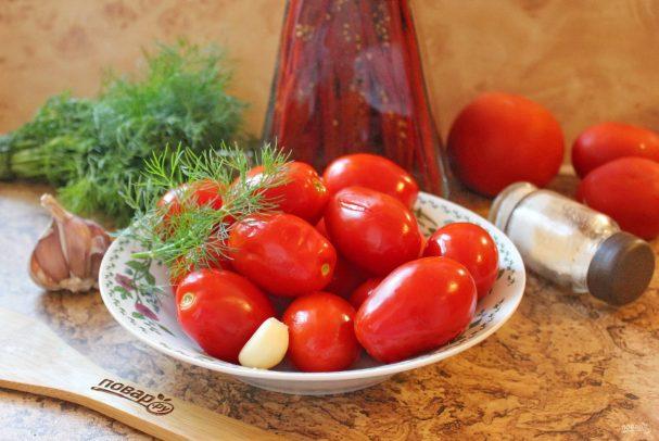 Засолка помидоров в кастрюле