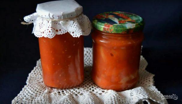 Рецепт лечо на зиму с томатной пастой