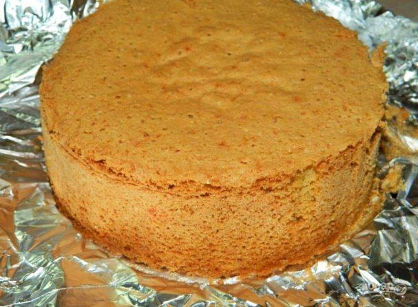 Ванильный бисквит на майонезе