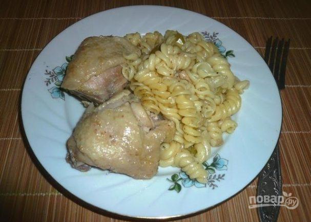 Курица с макаронами