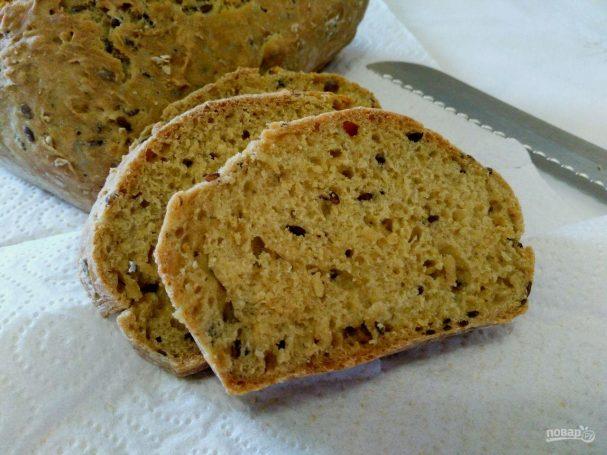 Содовый хлеб с семенами льна