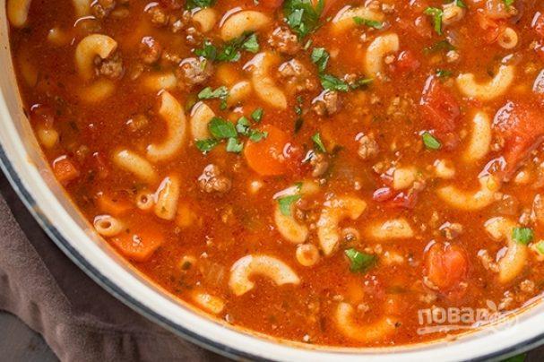 Суп из макарон