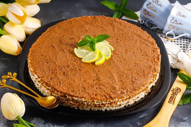 Вафельный торт с медом