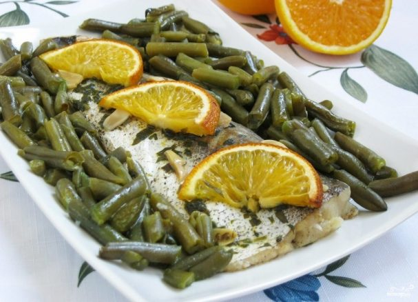 Рыба с фасолью
