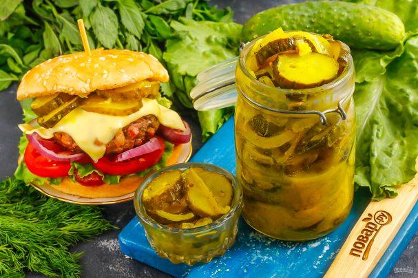 Маринованные огурцы для гамбургеров