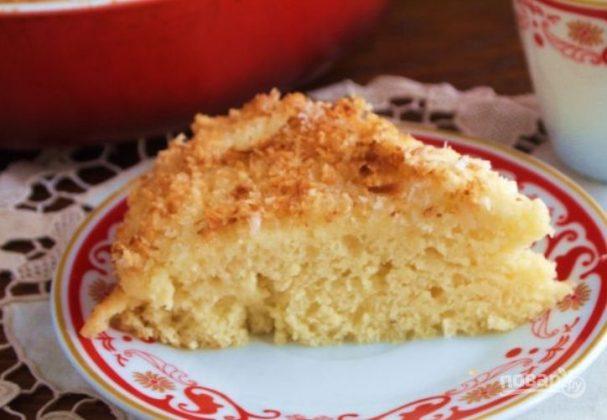 Датский пирог с кокосовой стружкой