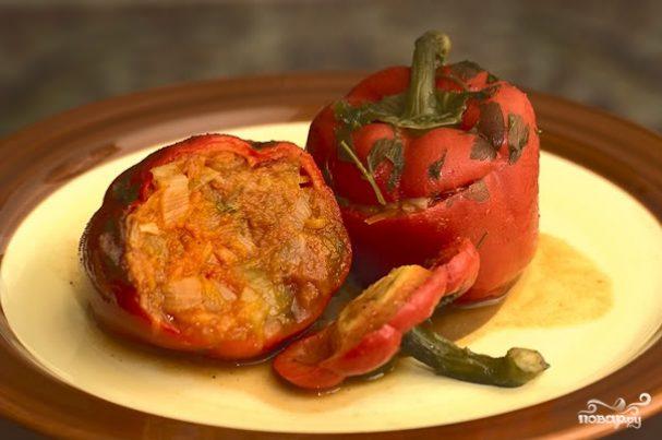 Болгарский перец с овощами