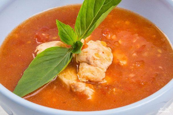 Томатный суп с индейкой