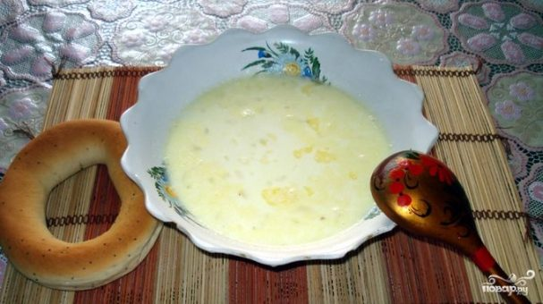 Молочный суп с картофелем