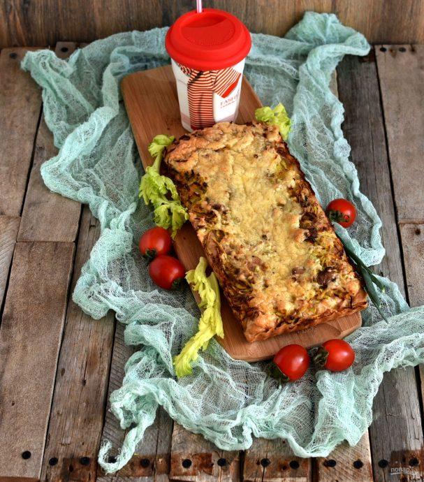 Открытый пирог с картофелем и молоками сельди