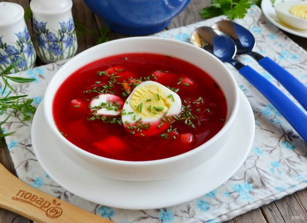 рецепт супа из свекольного листа