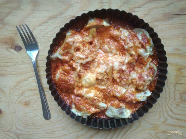 Пельмени в духовке под томатным соусом