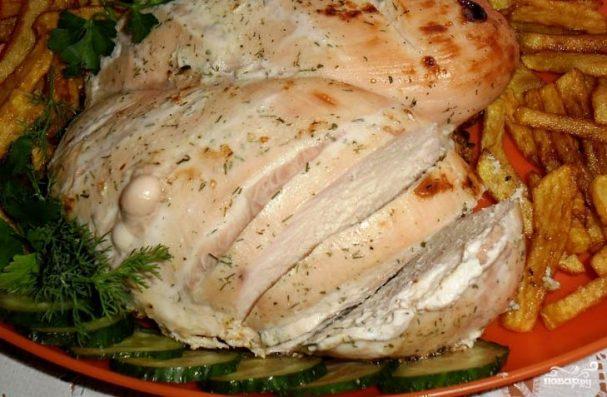 Диетическая куриная грудка в духовке