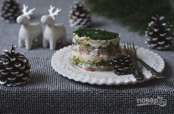 """Салат """"Мимоза"""" с авокадо"""