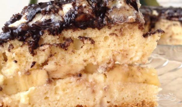 Обалденный банановый торт